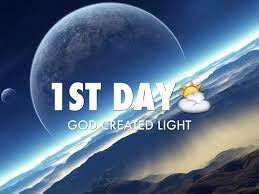 what day did god create light 7 days of creation by avery trapolin