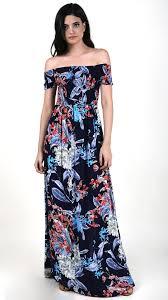 floral maxi dress smocking navy blue floral maxi dress angl