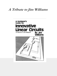 williams 06 1995 edn a designer u0027s guide to innovative linear