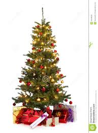 decorated tree stock image image of gift ornaments