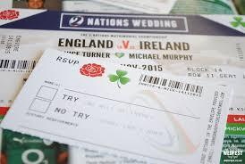 wedding invitations ireland ireland vs rugby ticket wedding invitations wedfest