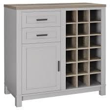 Oak Bar Cabinet Carver Bar Cabinet Gray Sonoma Oak Ameriwood Home Target