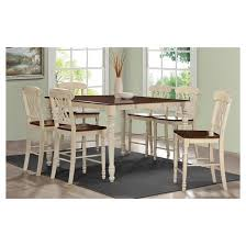 Dylan Counter Height Dining Table Buttermilk And Oak Acme  Target - Oak counter height dining room tables