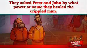 acts 3 peter heals the lame man kids bible stories kids bible
