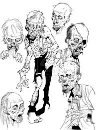 Creepy Halloween Coloring Pages by Zombie Drawings Zombie Sketch Stuff By Angryrooster Zombies