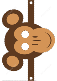 mask template monkey mask template free printable papercraft templates