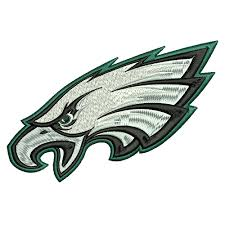 philadelphia eagles machine embroidery design 4x4 5x7 6x10