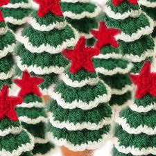 mini tree free crochet pattern decorations