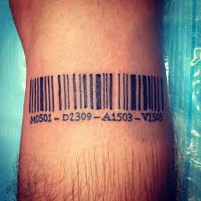 barcode tattoo meaning pictures to pin on pinterest tattooskid