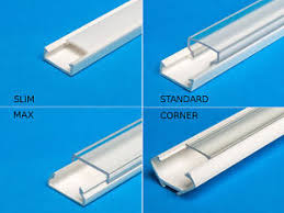6ft led strip light 2m 6 6 ft pvc channel for led strip light with cover profile ebay