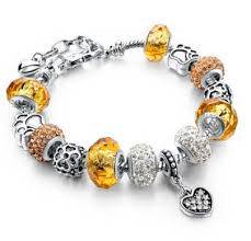 pandora glass bracelet images Pandora replica gold murano crystal glass bead charm bracelet jpg