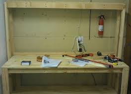 workbench with pegboard and light here is another view straight on of our workbench other