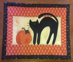 halloween mini quilt from patchwork u0026 paint