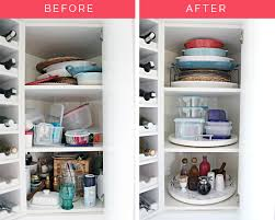 kitchen corner cupboard rotating shelf iheart organizing organized kitchen corner cabinet with a