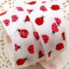 ladybug ribbon ladybug ribbon with faux burlap border 2 5 x 10 yd burlap