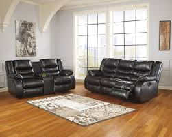 Black Leather Reclining Sofa And Loveseat Benchcraft Linebacker Durablend Black Contemporary Reclining