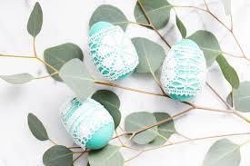 diy lace easter eggs diy lace easter eggs decor