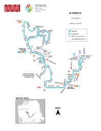 Sfo Bart Map by 36 Teresita Bus Route Sf Muni Sf Bay Transit