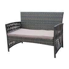Rattan Garden Furniture White Amazon Com Patio Furniture Dining Set 4 Pcs Garden Outdoor