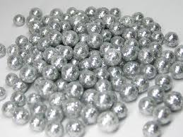 tiny silver glitter balls foam 3mm to 8mm miniature deco