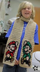 multibeavo u0027s world free crochet pattern super mario u0026 luigi scarf