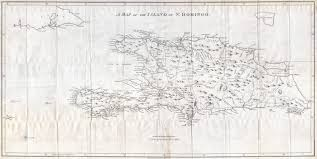 Map Of West Indies Large Scale Old Map Of Hispaniola Or Santo Domingo West Indies