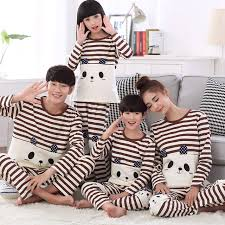 and matching clothes pajamas family