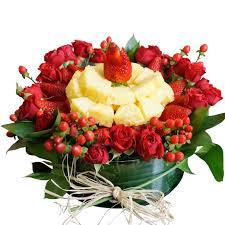 flowers fruit platter flower fruit arrangements