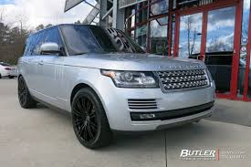 black land rover with black rims manor range rover rims by redbourne