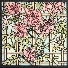 glass magnolia trellis small mesh stencil