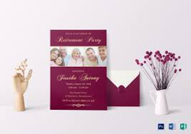 retirement invitation designs u0026 templates in word psd publisher