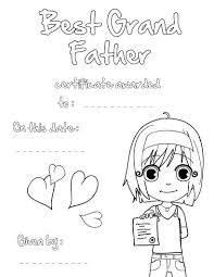 best grandfather certificate coloring pages hellokids com