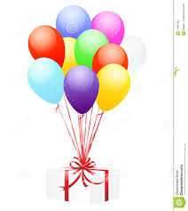 balloons gift balloons and gift stock photography image 14891362