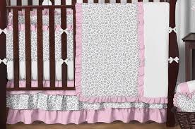 Cheetah Print Crib Bedding Pink And Gray Kenya Baby Bedding 9pc Crib Set By Sweet Jojo