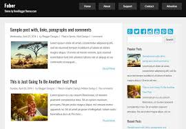 faber simple blogger template free download 2018