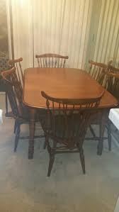 Maple Table And Chairs Walter Of Wabash Moosehead Maple Table With 6 Chairs Dining Set