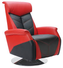 red race car reclining office chair