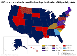 Unc Map College Bound Out Of State Students Carolina Demography