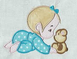 baby applique applique machine embroidery design