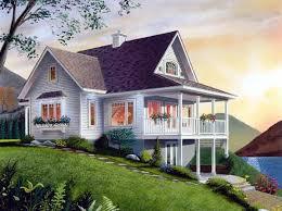 hillside cabin plans house plan 65001 bungalow coastal country craftsman hillside