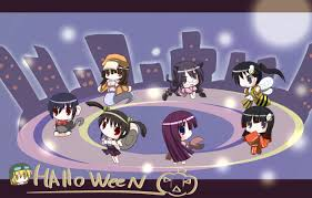 halloween chibi background bakemonogatari wallpapers wallpapervortex com