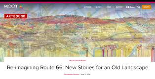 Old Route 66 Map by J Bohn Associates Publications
