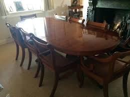 Yew Dining Table And Chairs Second Wooden Furniture Sold Yew Wood Dining Table And 8