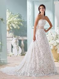 david tutera wedding dresses lace a line gown with back bow wedding dress 116219 yalene aline