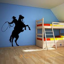 aliexpress com buy cowboy lassoing lasso rope rodeo ranger horse aliexpress com buy cowboy lassoing lasso rope rodeo ranger horse rider wall art sticker vinyl transfer decal room stencil mural decor from reliable wall