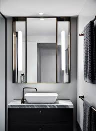 Black Powder Rooms Hollywood Glamour With A Black And White Backdrop