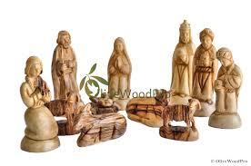 wooden nativity set olive wood christmas nativity set carved holy family set from