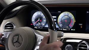 mercedes digital dashboard 2018 s class dashboard settings youtube