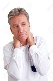 looking with grey hair pensive senior physician with grey hair looking worried stock