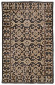 Black And Brown Area Rugs Kaleen Restoration Black Res04 02 Area Rug Free Shipping